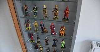 Feuerwehr-Modellsammlung aus Zinnfiguren.
